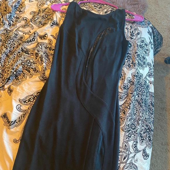 ASOS mesh little black dress